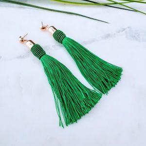 5 for $25 Green Color Tassel Fringe Earrings